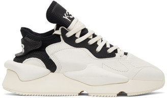 Y-3 White and Black Kaiwa Sneakers
