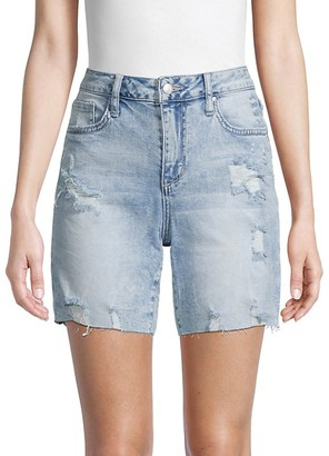 Joe's Jeans Distressed Denim Bermuda Shorts