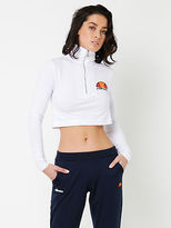 Ellesse New Annelisa Long Sleeve Crop Top In White Womens Tops & T Shirts