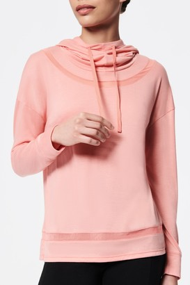 Andrew Marc Hooded Funnel Neck Long Sleeve T-Shirt