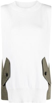 Sacai Sleeveless Knitted Top