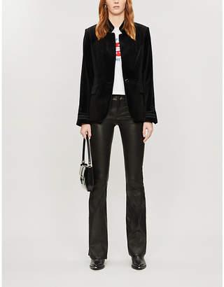 Frame Soutache stand-collar velvet jacket