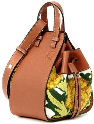 Loewe Hammock Mini floral shoulder bag