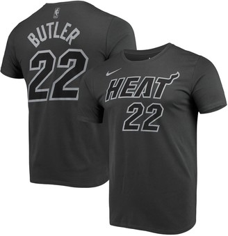 Nike Men's Jimmy Butler Gray Miami Heat Icon Performance T-Shirt