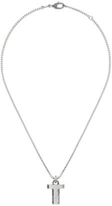 """Gucci Silver """"T"""" letter necklace"""