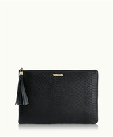 GiGi New York Uber Clutch Embossed Python