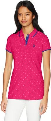 U.S. Polo Assn. Women's Stretch Pique Polo Shirt