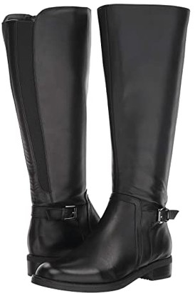 Blondo Evie Wide Shaft Boot Waterproof (Black Leather) Women's Shoes