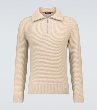 Loro Piana Half-zipped cashmere sweater