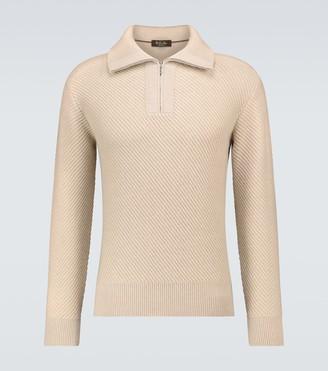 Loro Piana Half-zipped cashmere sweater