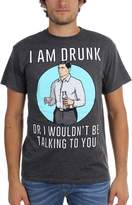 Ripple Junction Archer I Am Drunk Mens Heather Grey T-Shirt | M