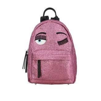 Chiara Ferragni Backpack Backpack In Glitter Fabric With Flirting Embroidery