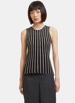 Helmut Lang Women's Raw Pinstriped Tank Top in Black