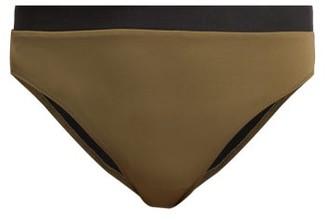 Solid & Striped The Christie Bi-colour Bikini Briefs - Khaki