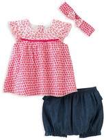 Absorba Infant Girls' Top, Shorts & Headband Set - Sizes 0-9 Months