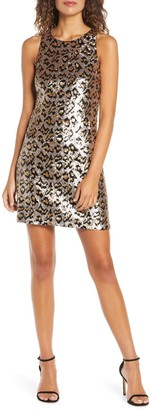 Ali & Jay Rawr Leopard Sequin Minidress