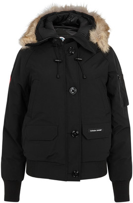 Canada Goose Chilliwack Black Fur-trimmed Arctic-Tech Jacket