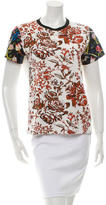 J.W.Anderson Short Sleeve Floral Print Top