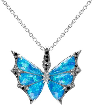 Stephen Webster White Gold And Black Opalescent, Crystal Haze And Diamond Fly By Night Necklace