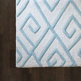 The Well Appointed House Global Views Hand Tufted Maze Rug in Blue-Available in Four Different Sizes