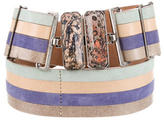 Fendi Multicolor Striped Waist Belt w/ Tags