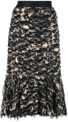 Proenza Schouler Printed Fil Coupe Long Skirt