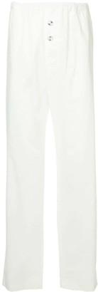 Jil Sander Elasticated Waist Straight Trousers