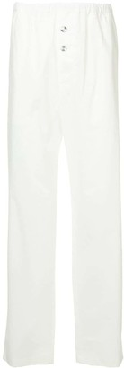 Jil Sander elasticated waist straight trousers