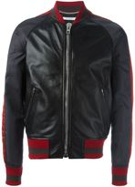 Givenchy leather bomber jacket - men - Lamb Skin/Polyamide/Polyester/Cupro - 48