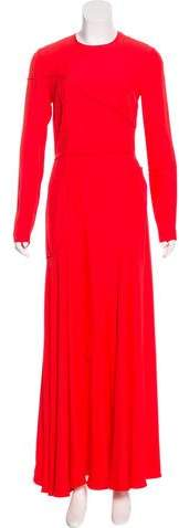 Cédric Charlier Long Sleeve Maxi Dress