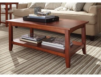 Three Posts Kerlin Coffee Table with Storage Color: Cherry