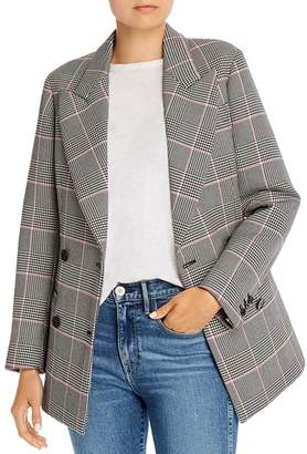 MSGM Giacca Double-Breasted Plaid Scuba Blazer
