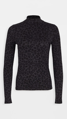 Z Supply Leopard Fitted Turtleneck