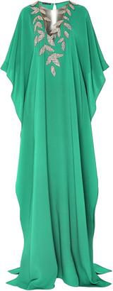 Oscar de la Renta Exclusive Embellished Silk-Georgette Caftan
