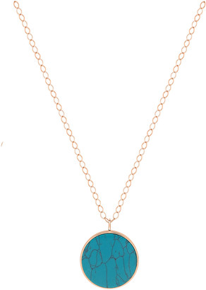 ginette_ny Jumbo Turquoise Disc on Chain Necklace