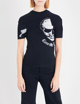Vetements Emo graphic-print stretch-jersey T-shirt
