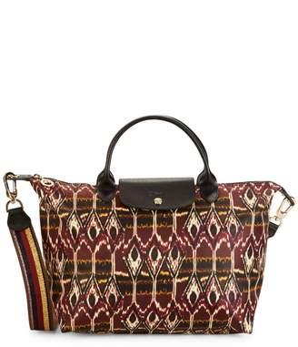 Longchamp Mixed-Print Leather Crossbody Bag