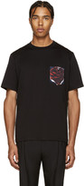 Paul Smith Black Floral Pocket T-Shirt