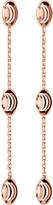 Links of London Essentials rose-gold vermeil beaded drop earrings
