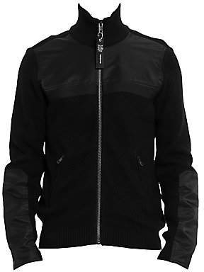 Diesel Men's Many Zip-Up Sleeve Patch Jacket