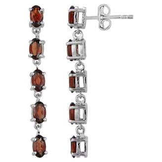 Luv Eclipse Red Silver Earrings