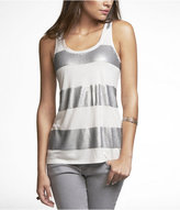 Striped-Front Sequin Tank