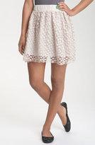 Klovis Floral Lace Overlay Skirt (Juniors)