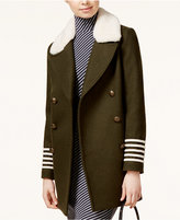 Tommy Hilfiger TOMMYXGIGI Shearling-Collar Military Peacoat