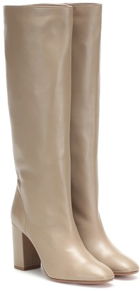 Aquazzura Boogie 85 leather knee-high boots