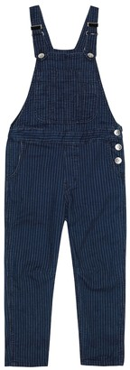 BRUNELLO CUCINELLI KIDS Exclusive to Mytheresa Pinstriped denim overalls