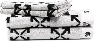 Off-White Arrow motif towels (set of 2)