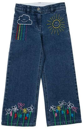 Stella McCartney Kids Weather Embroidered Jeans (3-14+ Years)