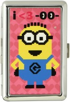 """Buckle Down Buckle-Down Business Card Holder - I <3""""Two Eyed Minion""""/Hearts Pinks - Large"""