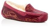 UGG Ansley Exotic Embossed Velvet Slippers